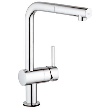 GROHE Minta Touch Electronic Monobloc Kitchen Mixer L-Shape Pull-Out Spout 31360 000