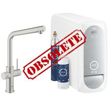 GROHE Blue Home Duo Chilled and Sparkling Starter Kit, L-Spout, Supersteel, 31454 DC0