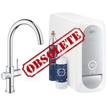 GROHE Blue Home Duo Chilled and Sparkling Starter Kit, C-Spout, Chrome, 31455 000
