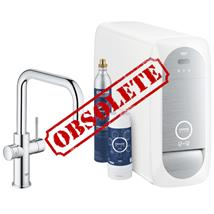 GROHE Blue Home Duo Chilled and Sparkling Starter Kit, U-Spout, Chrome, 31456 000