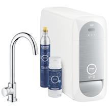 GROHE Blue Home Mono Chilled and Sparkling Starter Kit, C-Spout, Chrome, 31498 001
