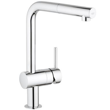 GROHE Minta Monobloc Kitchen Sink Mixer Pull Out Spout Chrome 32168 000