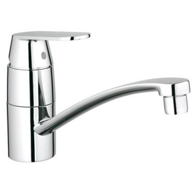 GROHE Eurosmart Cosmopolitan Monobloc Kitchen Sink Mixer, Low Spout, 32842 000