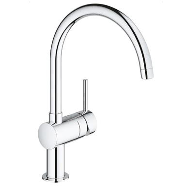 GROHE Minta Monobloc Kitchen Sink Mixer Arched Spout Chrome 32917 000