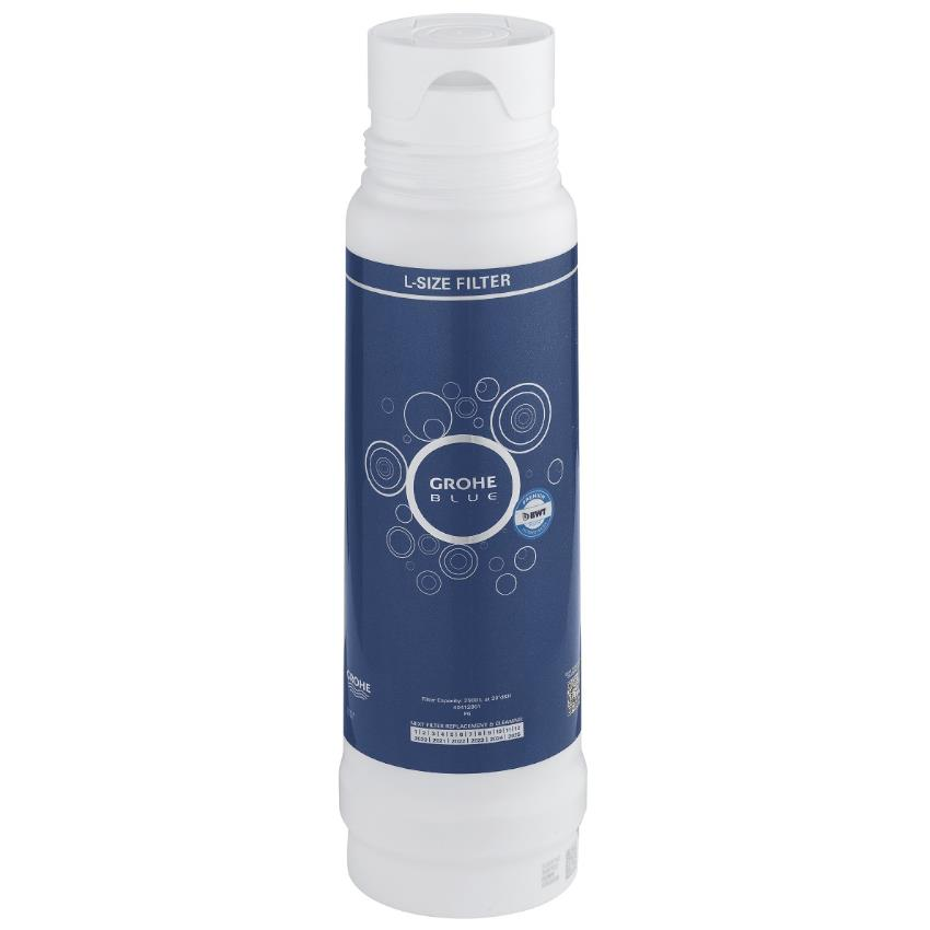 grohe blue replacement filter cartridge l size 3000 litres 40412 001. Black Bedroom Furniture Sets. Home Design Ideas