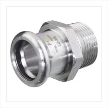 M-PRESS Stainless Steel Straight Male Adaptors